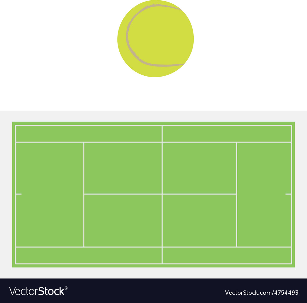 Tennis ball and court vector   Price: 1 Credit (USD $1)