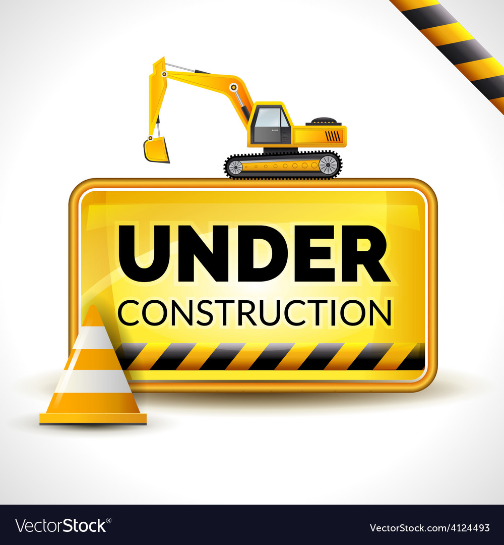 Under construction poster vector | Price: 1 Credit (USD $1)