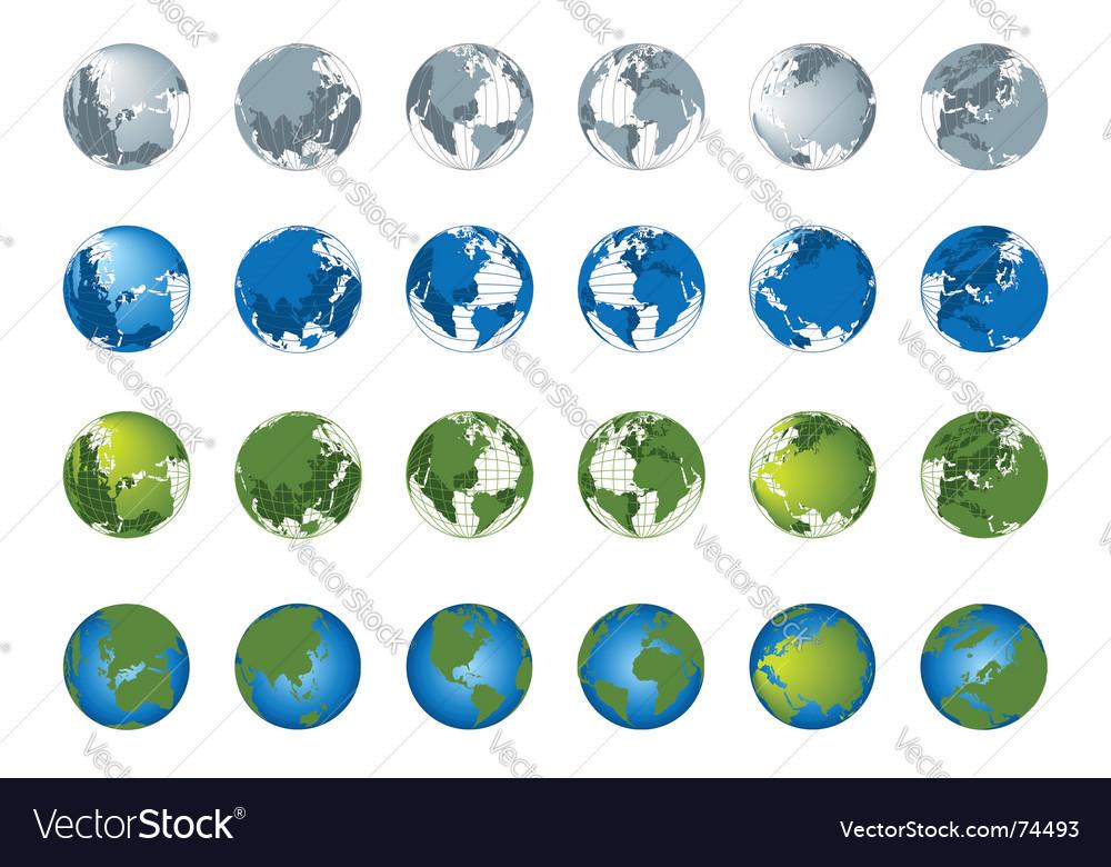 World map 3d globe series vector | Price: 1 Credit (USD $1)