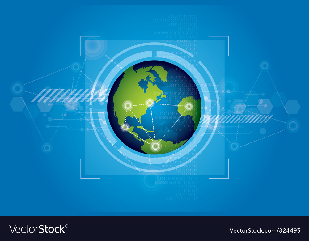 World technology background design vector | Price: 1 Credit (USD $1)