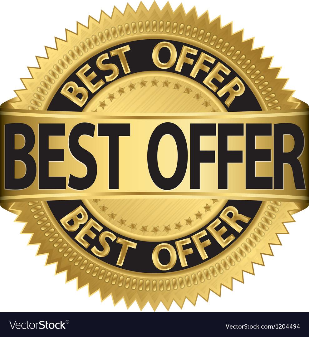 Best offer golden label vector   Price: 1 Credit (USD $1)