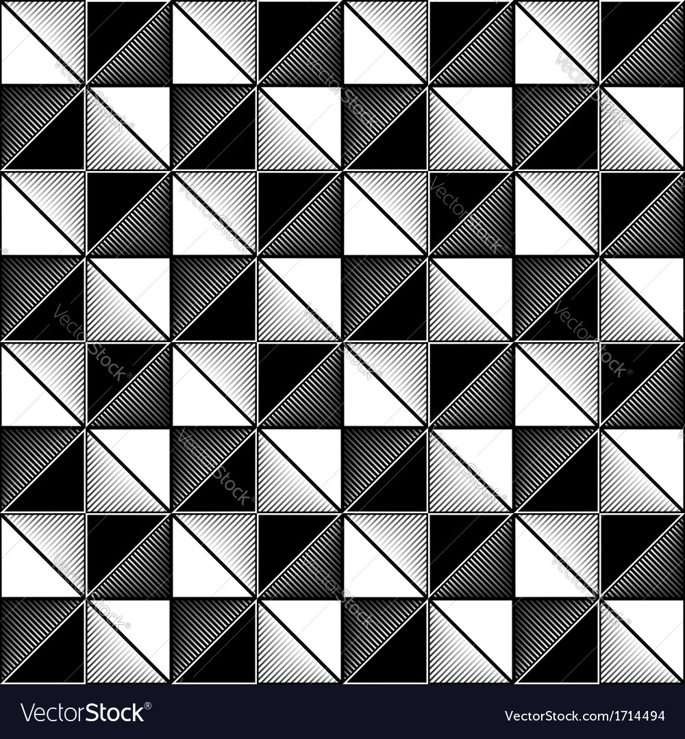 Black and white seamless geometric pattern vector | Price: 1 Credit (USD $1)