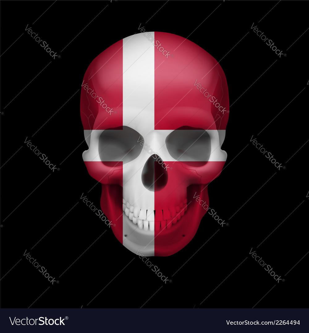 Danish flag skull vector | Price: 1 Credit (USD $1)