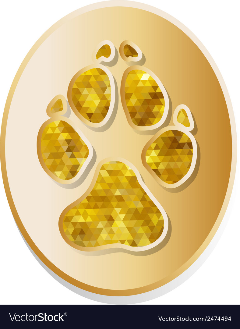 Dog track icon vector | Price: 1 Credit (USD $1)