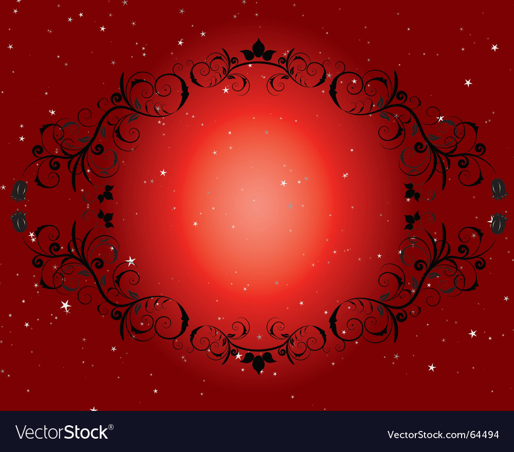 Frame and star background vector | Price: 1 Credit (USD $1)