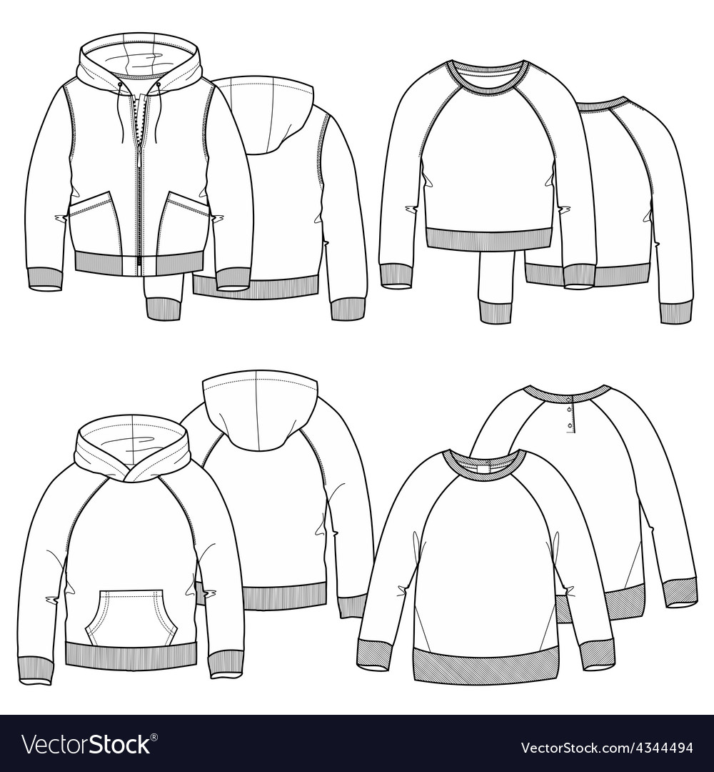 Girls hoodies vector | Price: 1 Credit (USD $1)