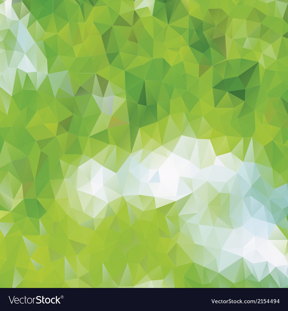 Green eco pattern of geometric shapes vector | Price: 1 Credit (USD $1)