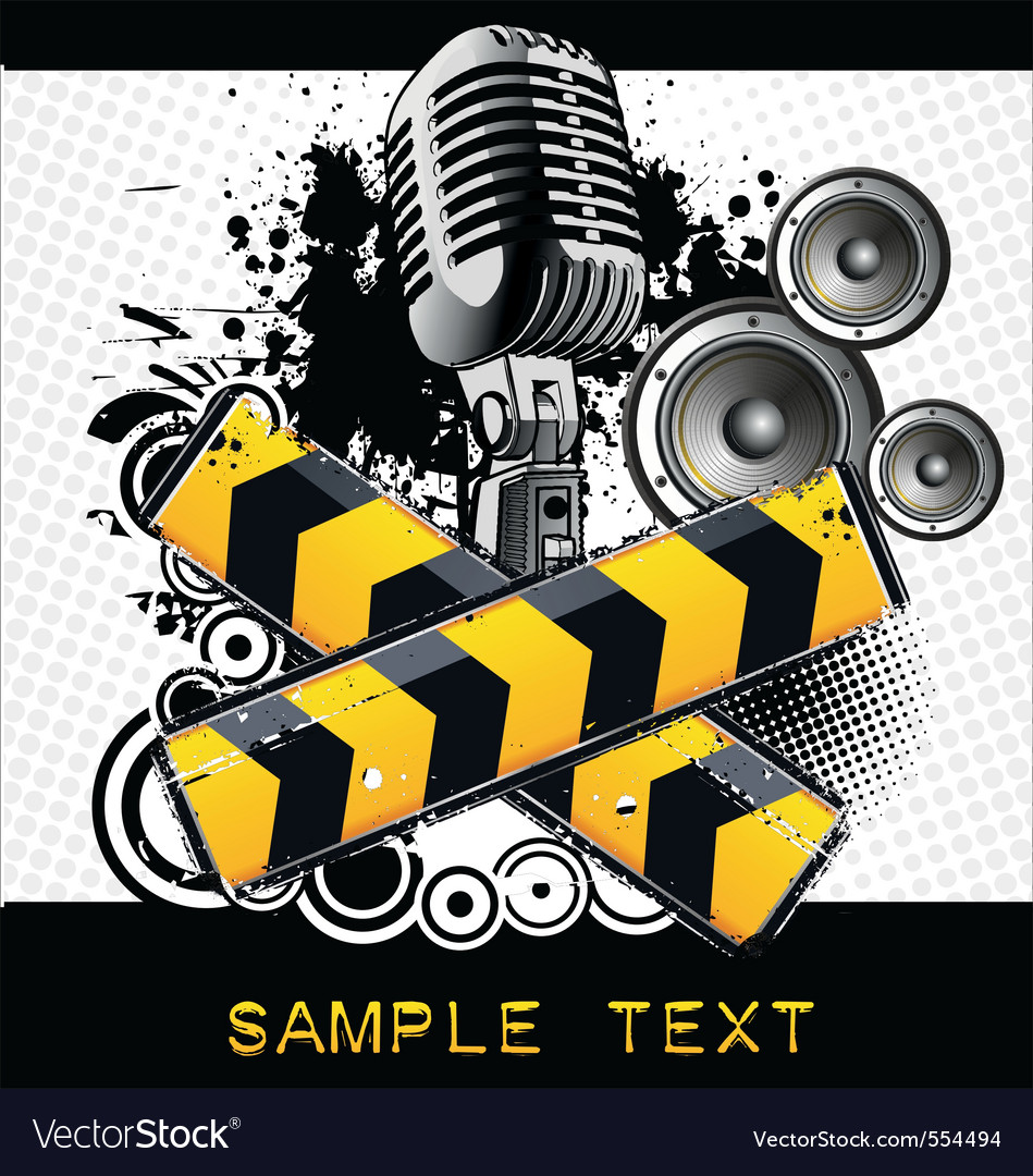 Grunge music vector | Price: 1 Credit (USD $1)