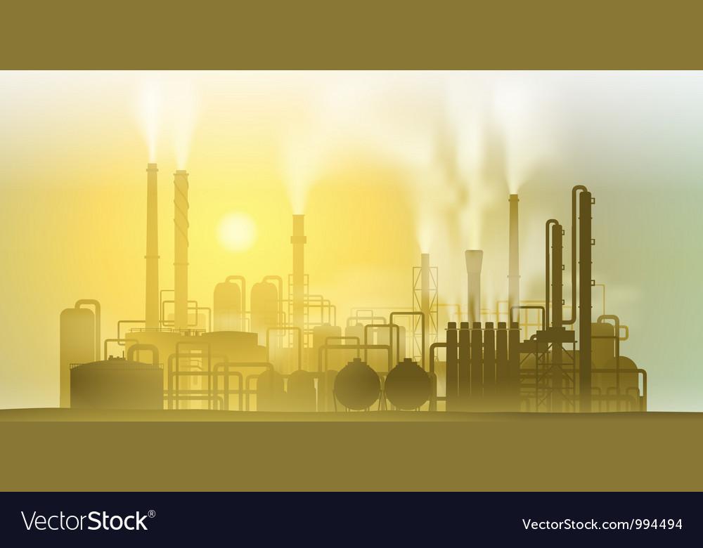 Industrial plant vector | Price: 1 Credit (USD $1)