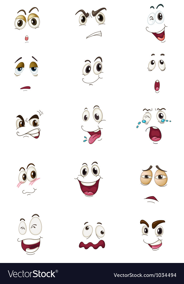 Mixed expressions vector | Price: 1 Credit (USD $1)