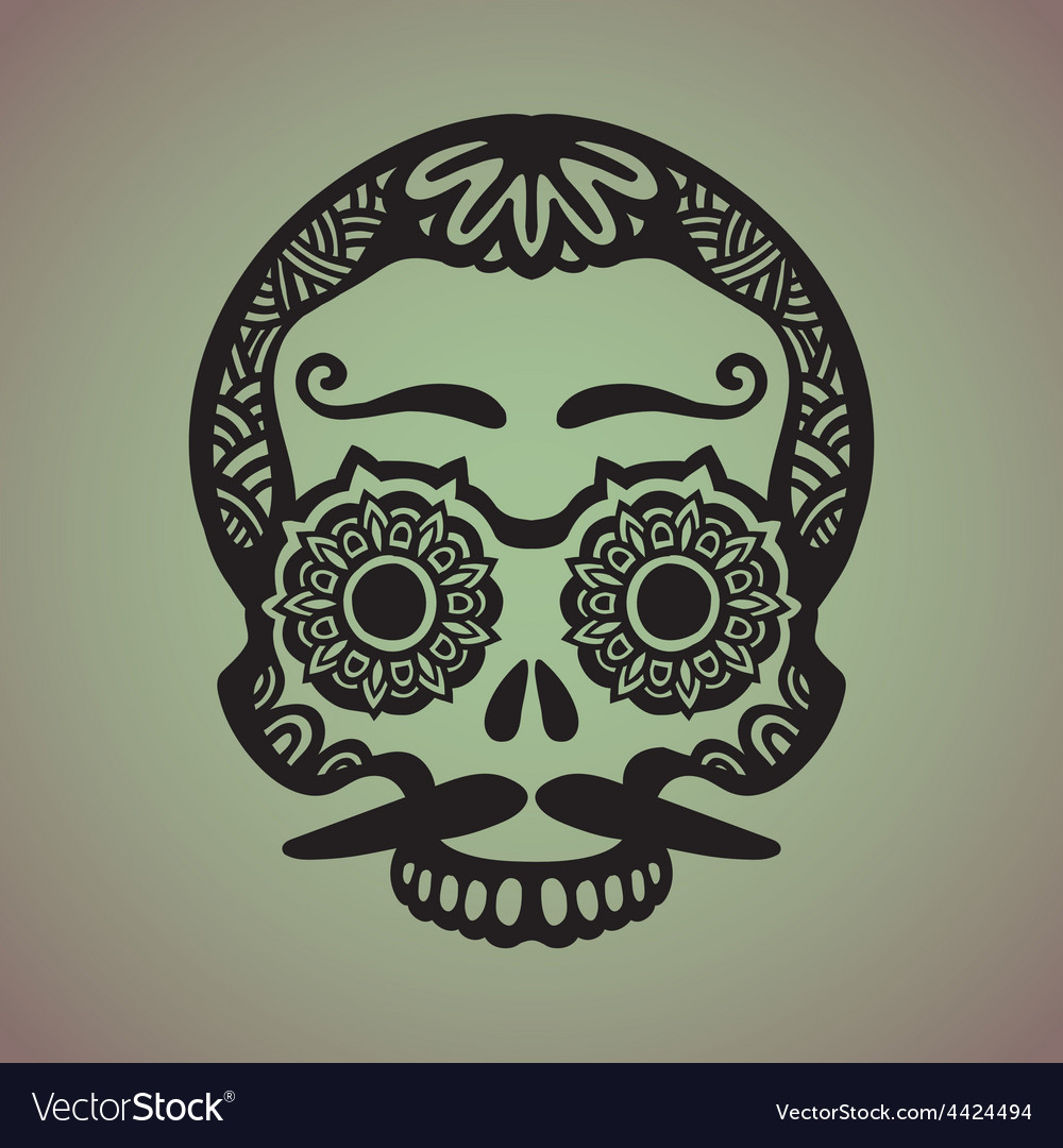 Ornamental art of a skull vector | Price: 1 Credit (USD $1)