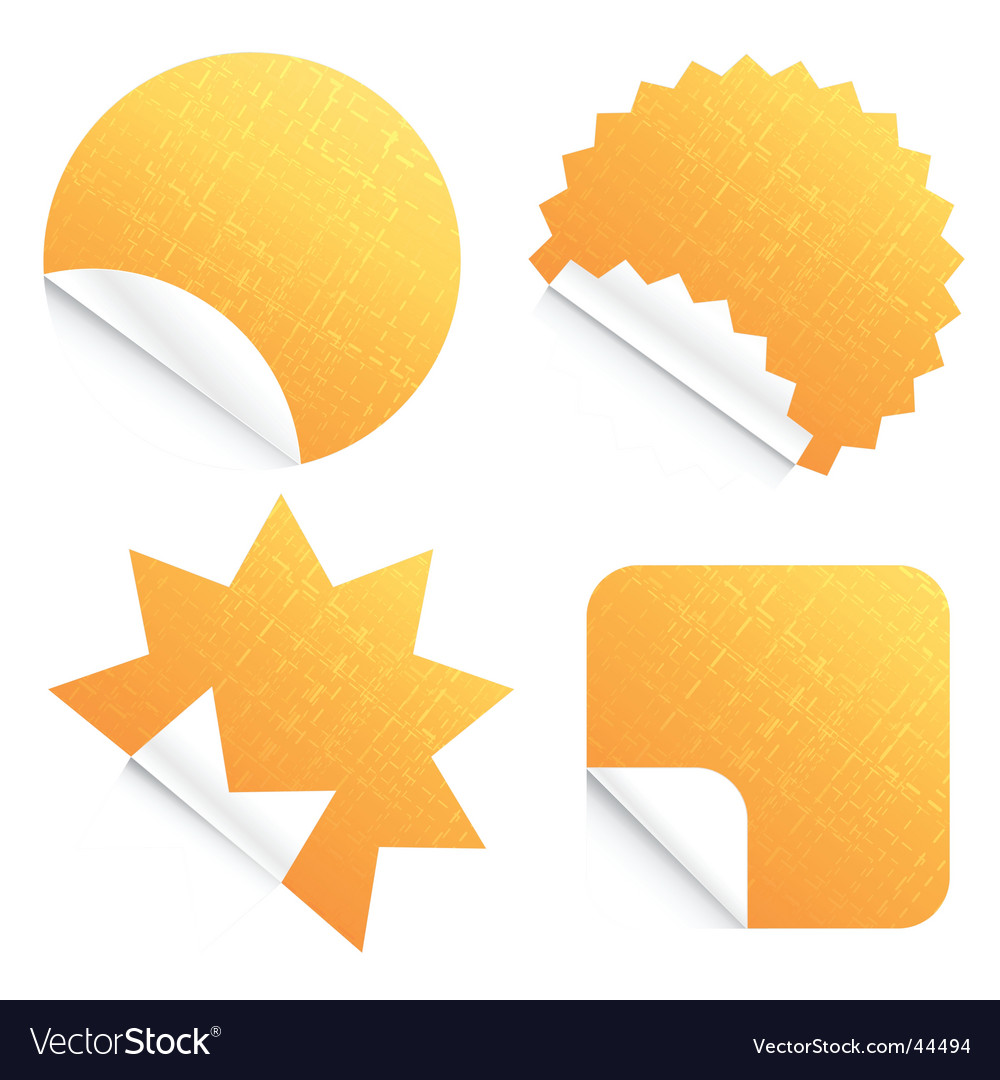 Peeling stickers vector | Price: 1 Credit (USD $1)