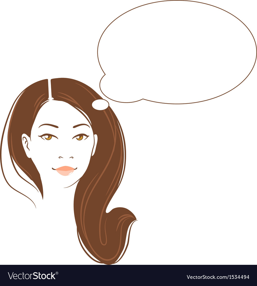 Portrait of beautiful thinking asian woman vector | Price: 1 Credit (USD $1)
