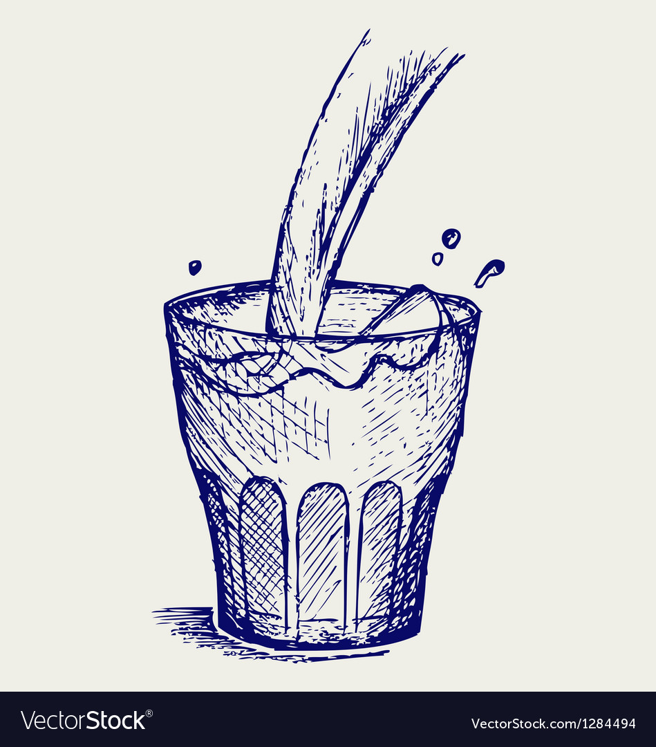 Pouring a glass of milk vector   Price: 1 Credit (USD $1)
