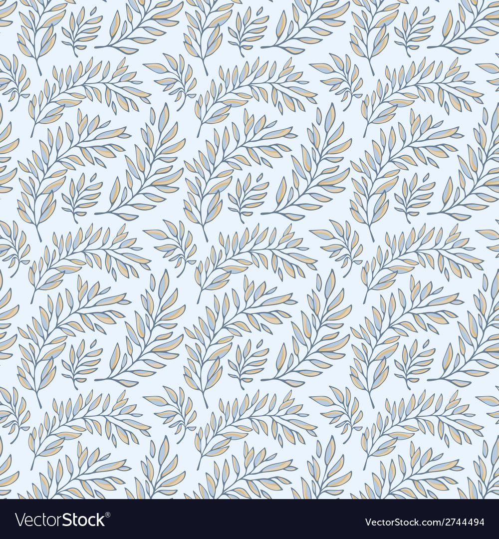 Seamless pattern decorative branches vector   Price: 1 Credit (USD $1)