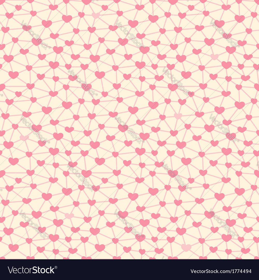 Seamless pattern with hearts linked together vector | Price: 1 Credit (USD $1)