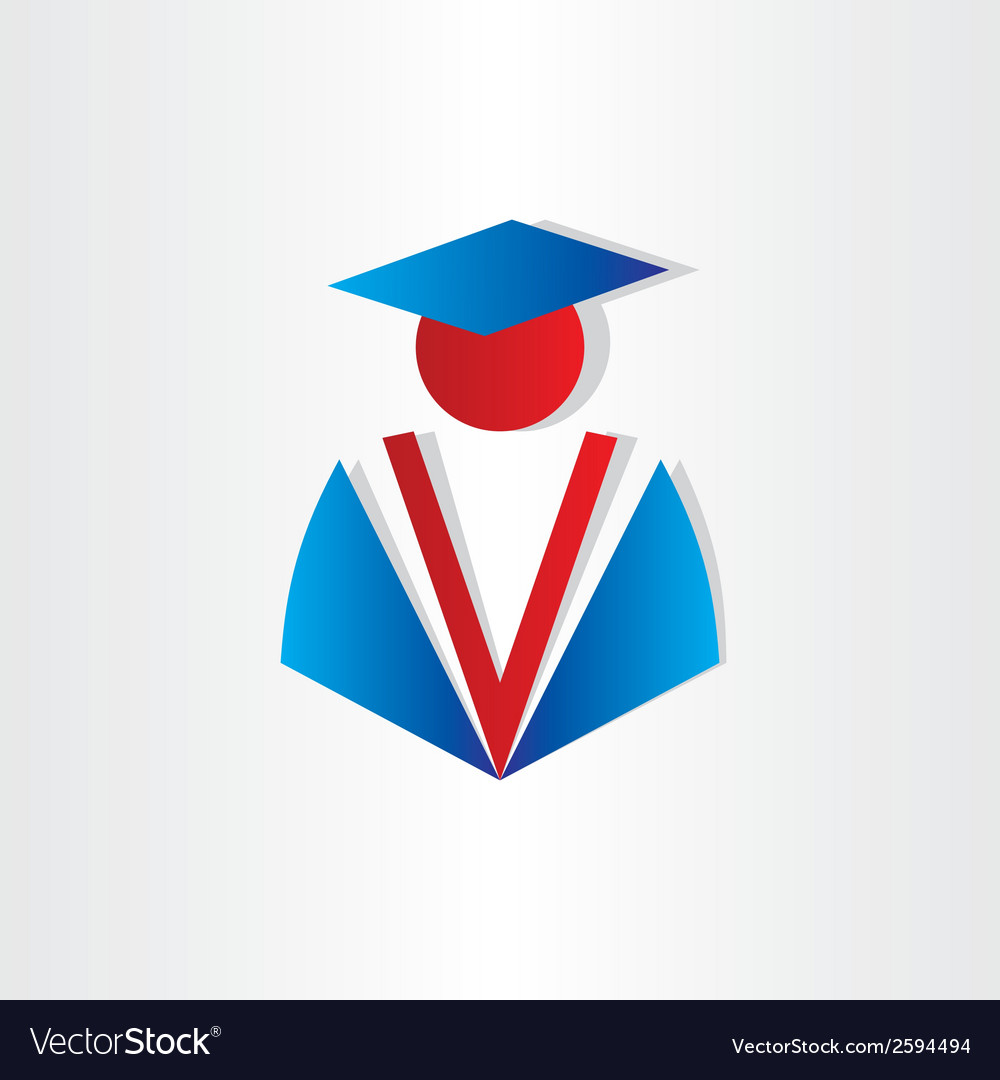 Student graduate university symbol vector | Price: 1 Credit (USD $1)