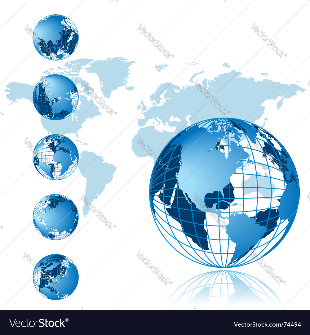 World map 3d globe series vector | Price: 1 Credit (USD $1)