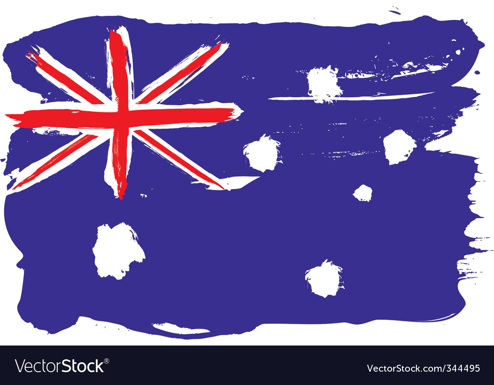 Australia grunge flag vector | Price: 1 Credit (USD $1)