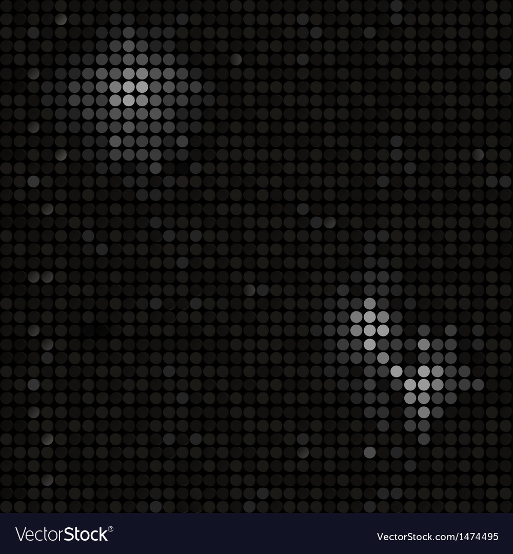 Black mosaic background vector | Price: 1 Credit (USD $1)