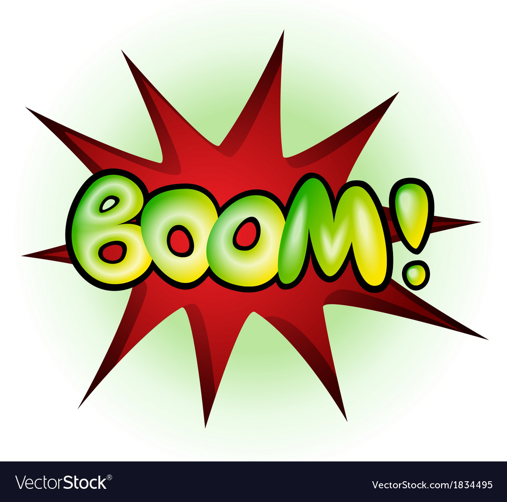 Boom - comic book explosion vector | Price: 1 Credit (USD $1)