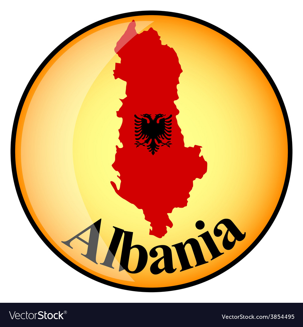 Button albania vector | Price: 1 Credit (USD $1)
