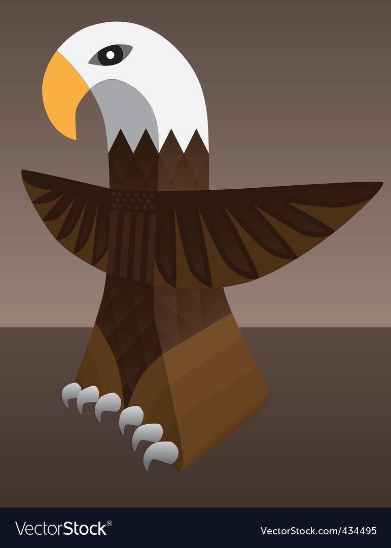 Eagle totem vector | Price: 1 Credit (USD $1)