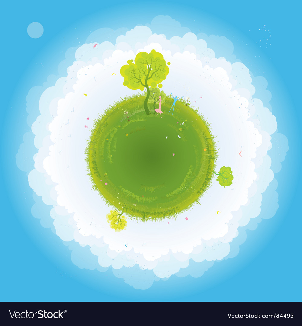 Earth and people vector | Price: 3 Credit (USD $3)