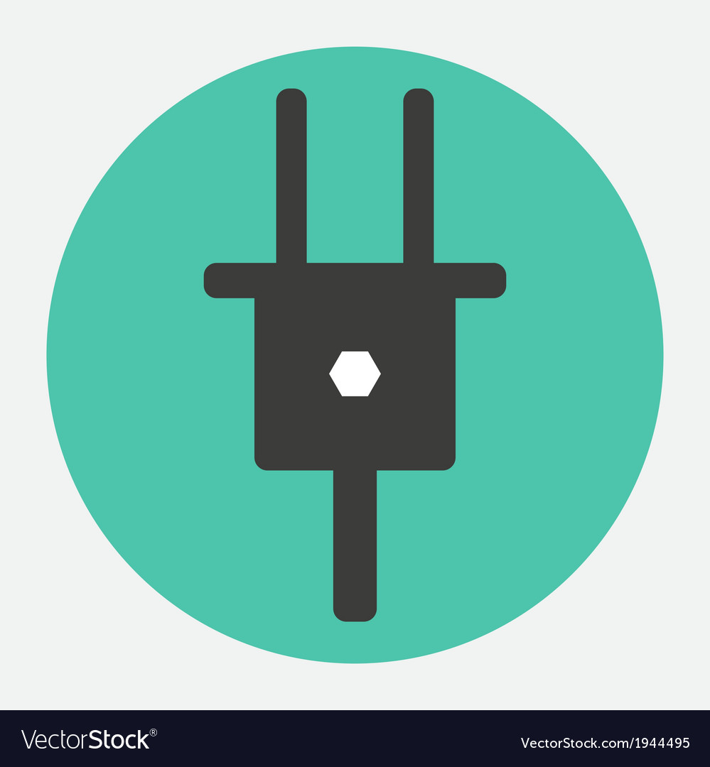Electrical plug icon vector | Price: 1 Credit (USD $1)