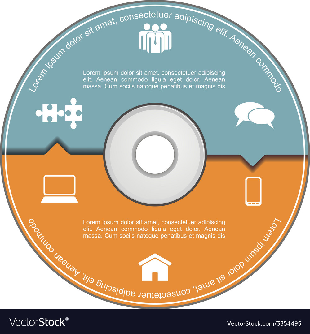 Infographics template with compact disk vector | Price: 1 Credit (USD $1)