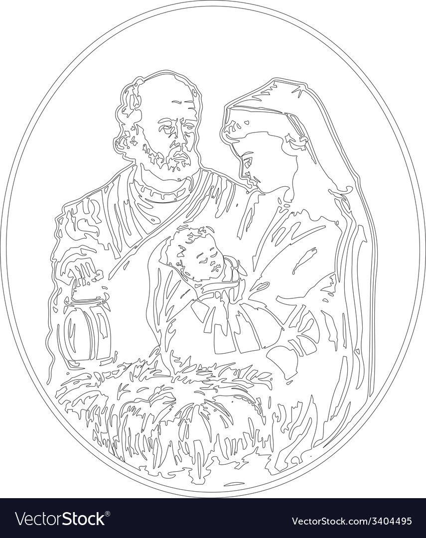 Jesus nativity vector | Price: 1 Credit (USD $1)