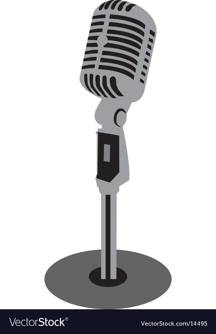 Old fashioned microphone vector | Price: 1 Credit (USD $1)