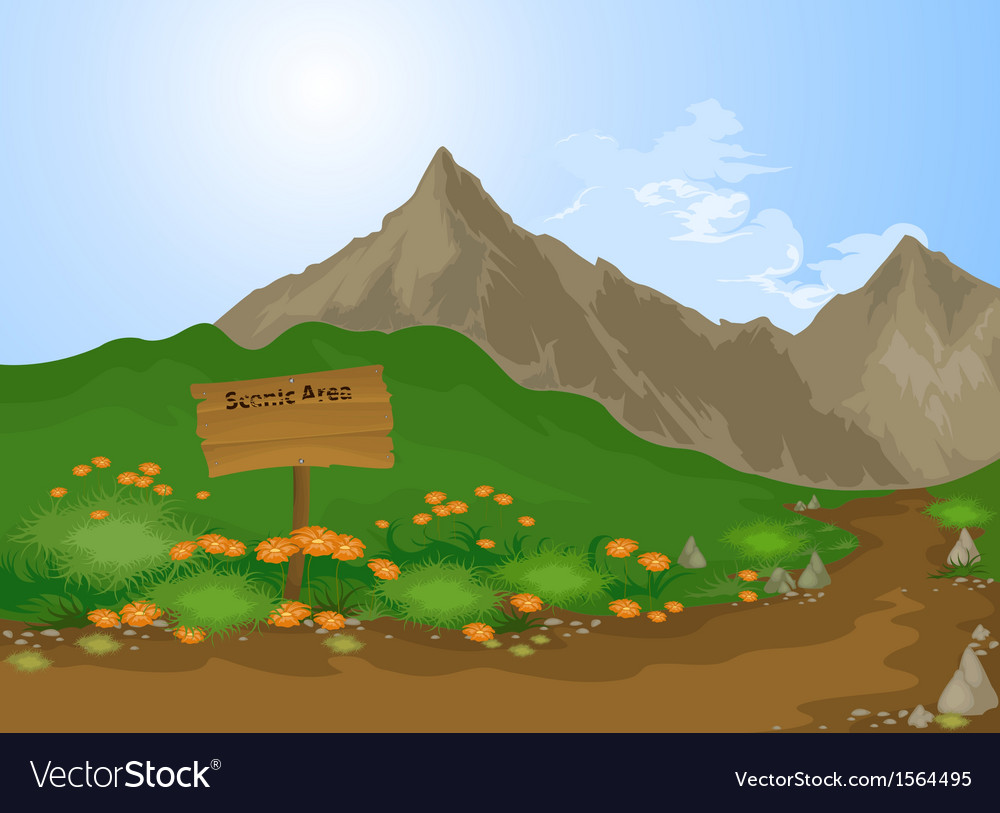 Scenic area vector | Price: 1 Credit (USD $1)