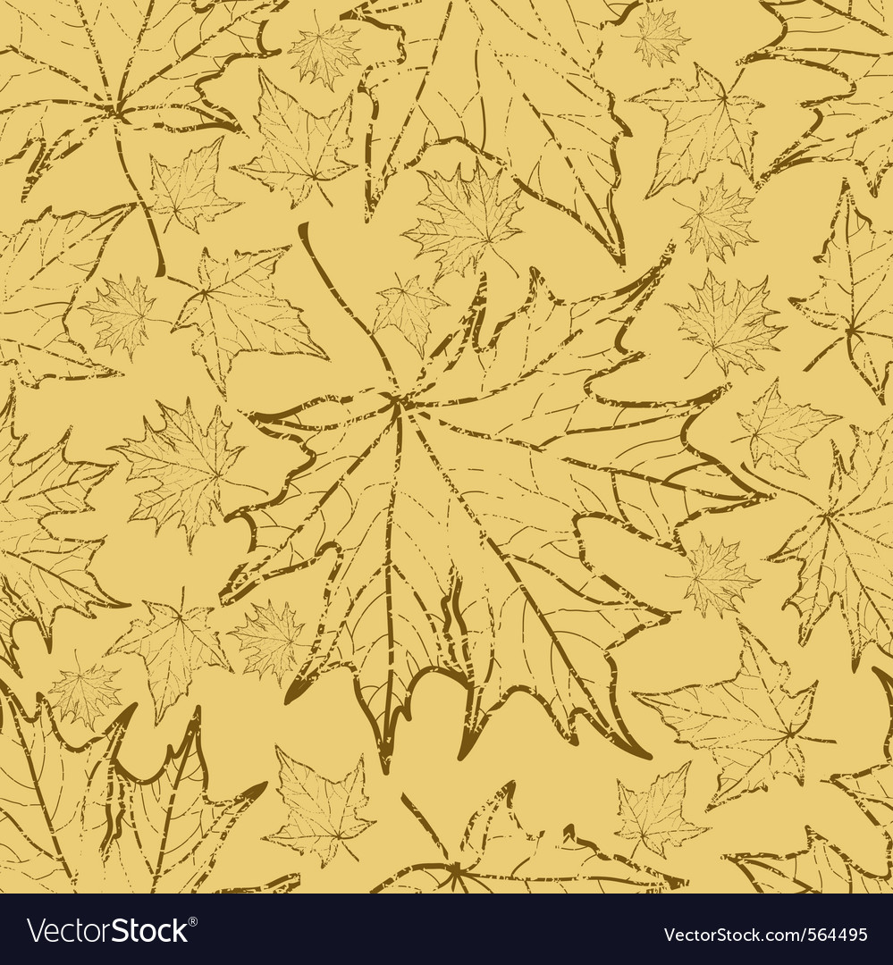 Seamless grunge autumn leaves vector | Price: 1 Credit (USD $1)