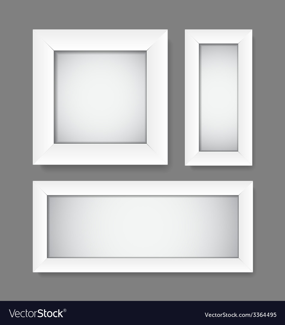 Simple empty white frames vector | Price: 1 Credit (USD $1)