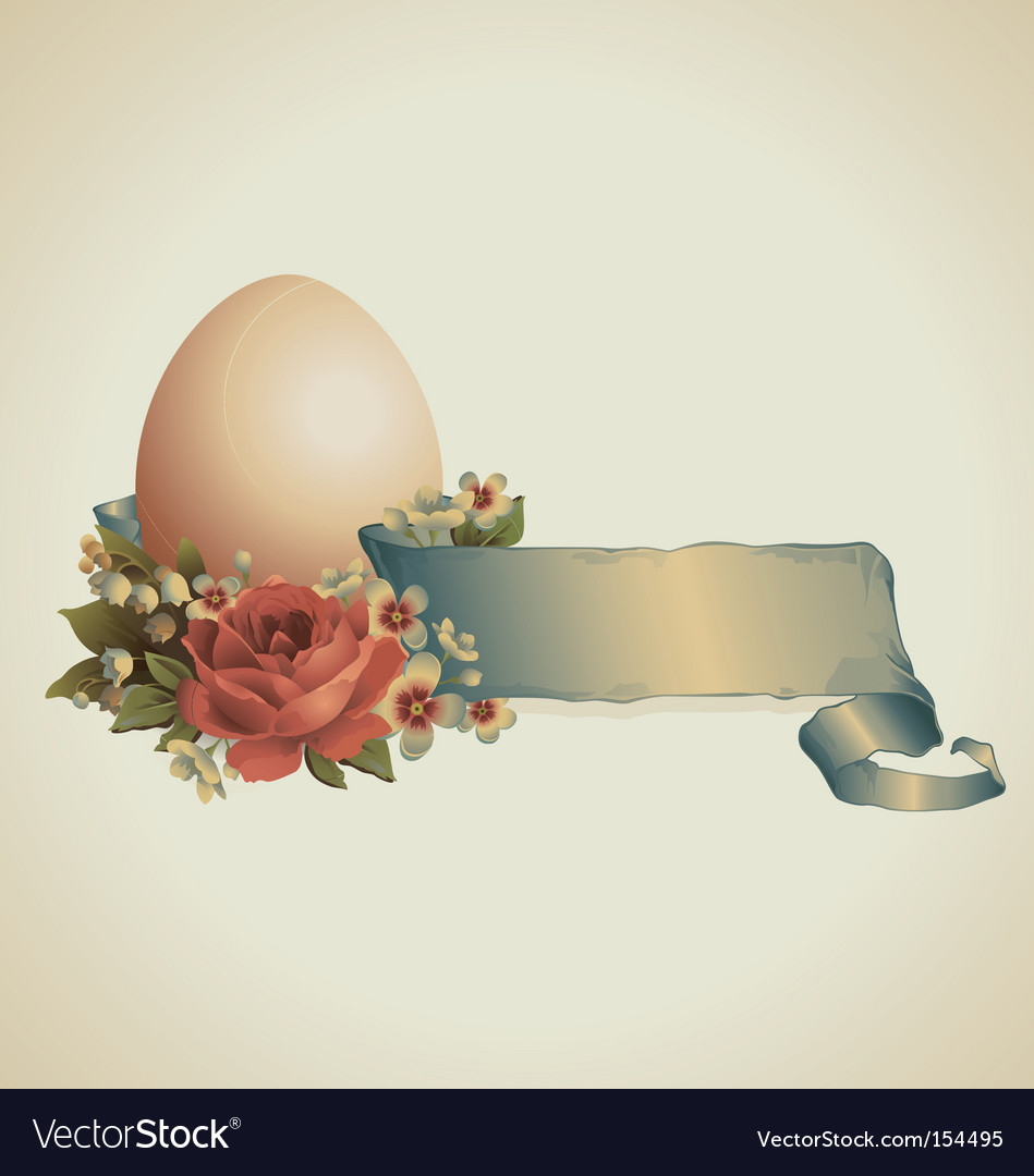 Vintage easter design vector | Price: 1 Credit (USD $1)
