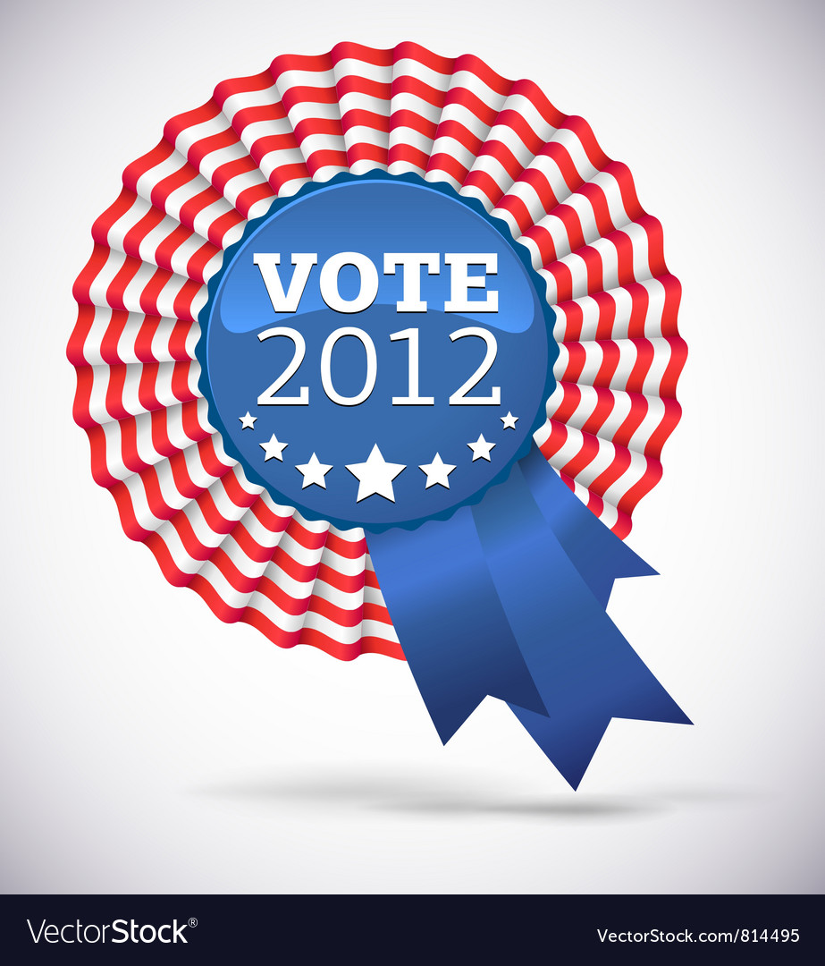 Vote 2012 usa badge vector | Price: 1 Credit (USD $1)
