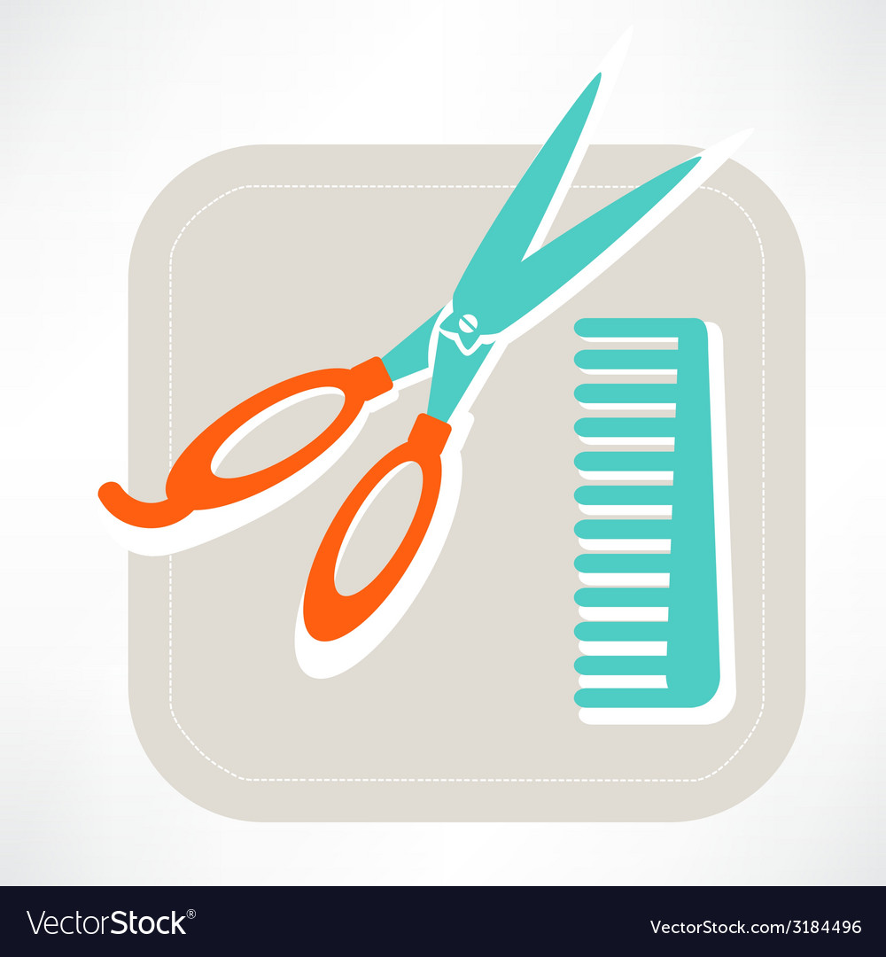 Hairdresser icon vector | Price: 1 Credit (USD $1)