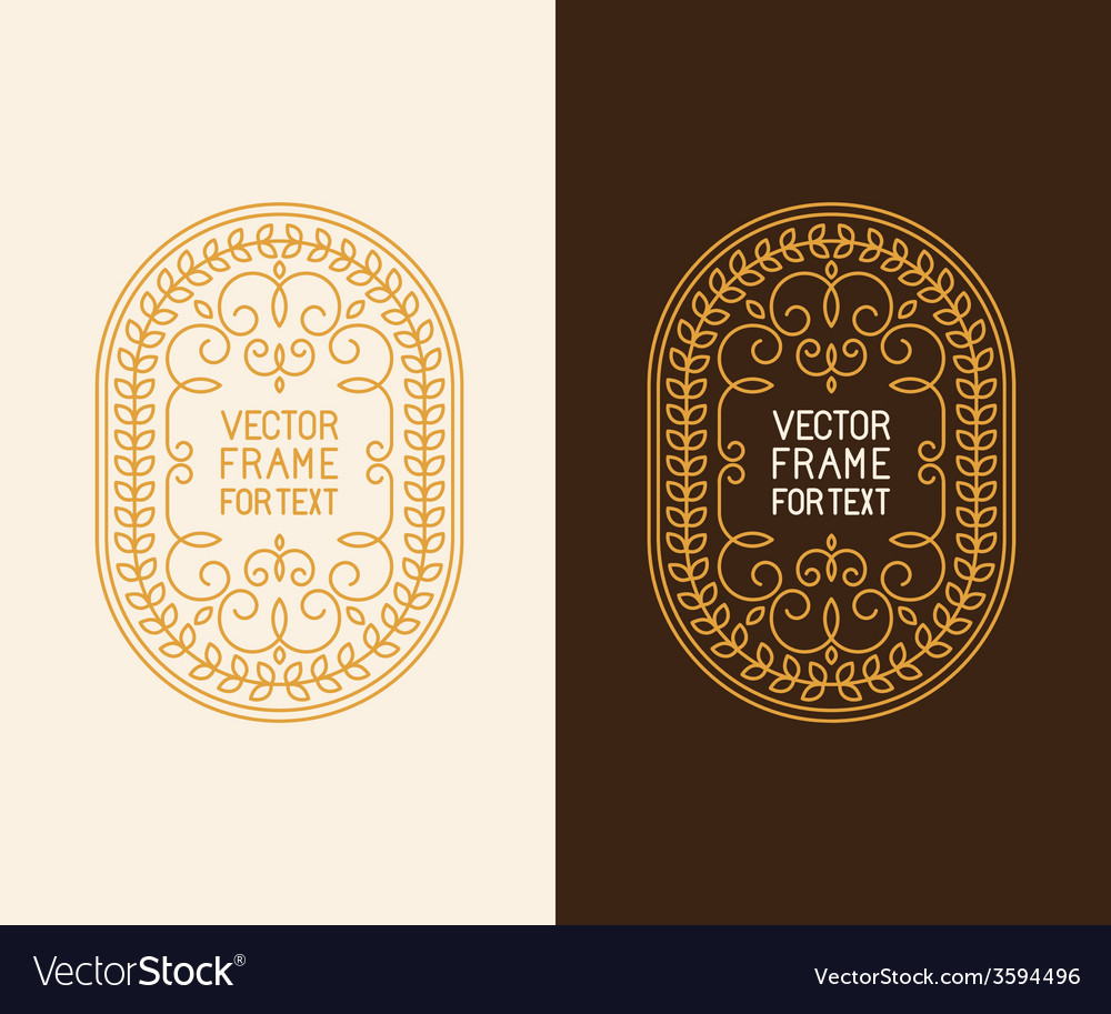 Label design template in outline style vector | Price: 1 Credit (USD $1)
