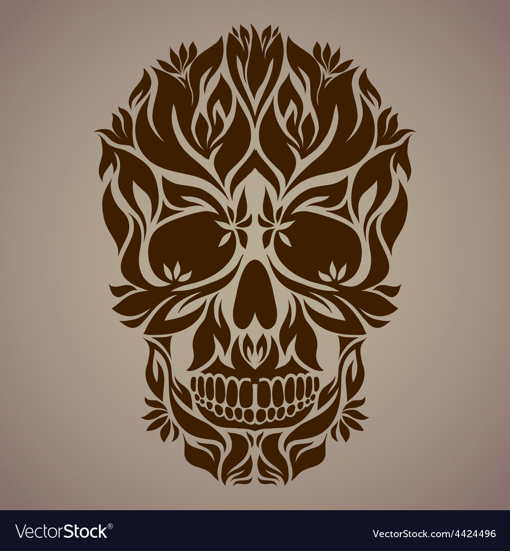 Ornamental art of a skull vector | Price: 1 Credit (USD $1)