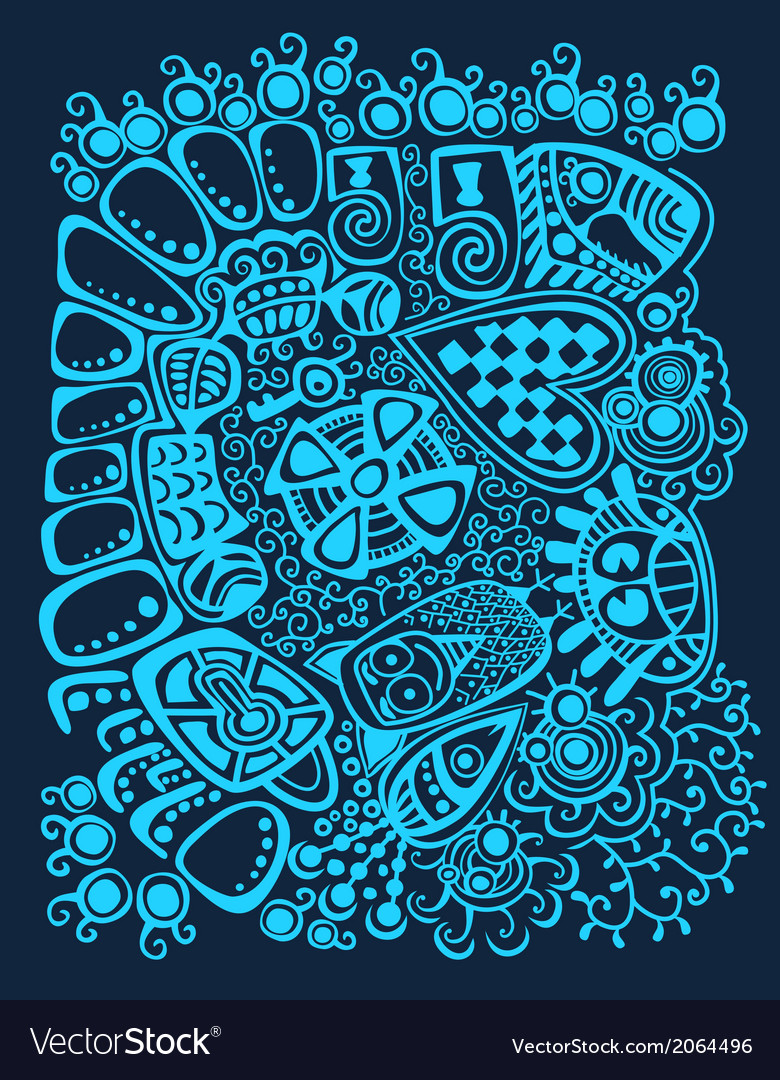 Psychedelic stylized design winter abstract vector | Price: 1 Credit (USD $1)