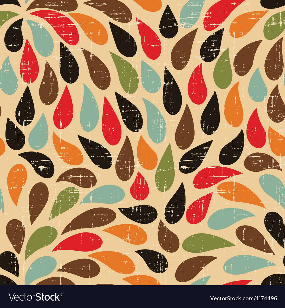 Seamless abstract retro drops pattern vector | Price: 1 Credit (USD $1)