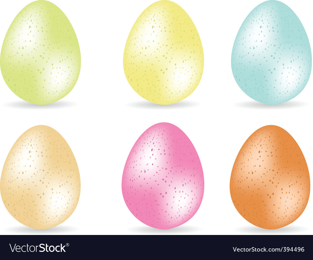 Speckled easter eggs vector | Price: 1 Credit (USD $1)