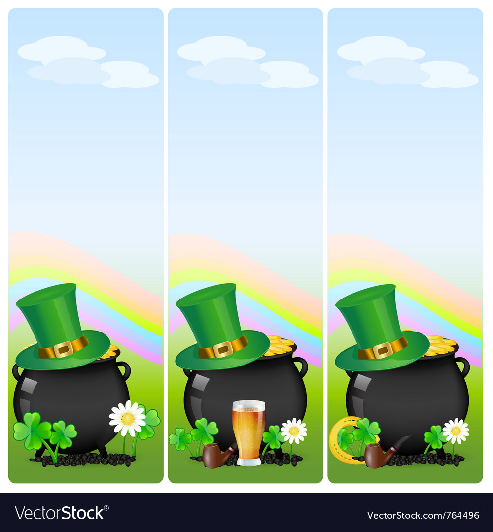 St patricks banner vector | Price: 1 Credit (USD $1)