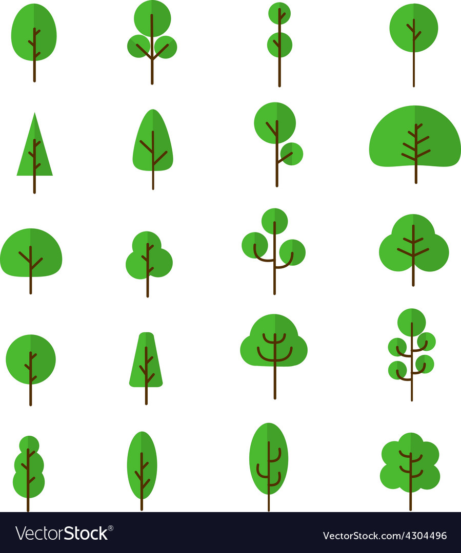 Tree collection 1 vector | Price: 1 Credit (USD $1)