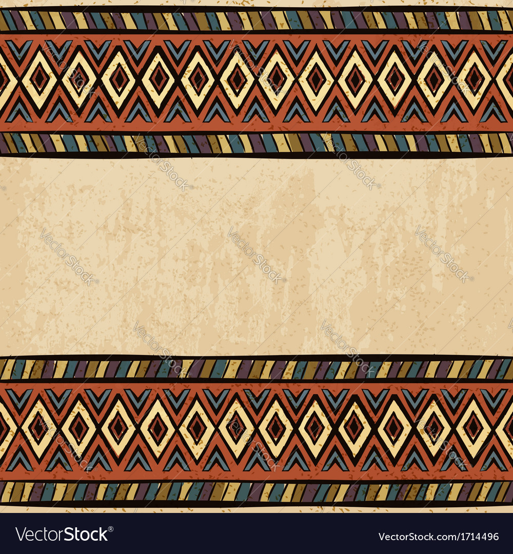 Vintage ethnic background seamless ornament vector | Price: 1 Credit (USD $1)