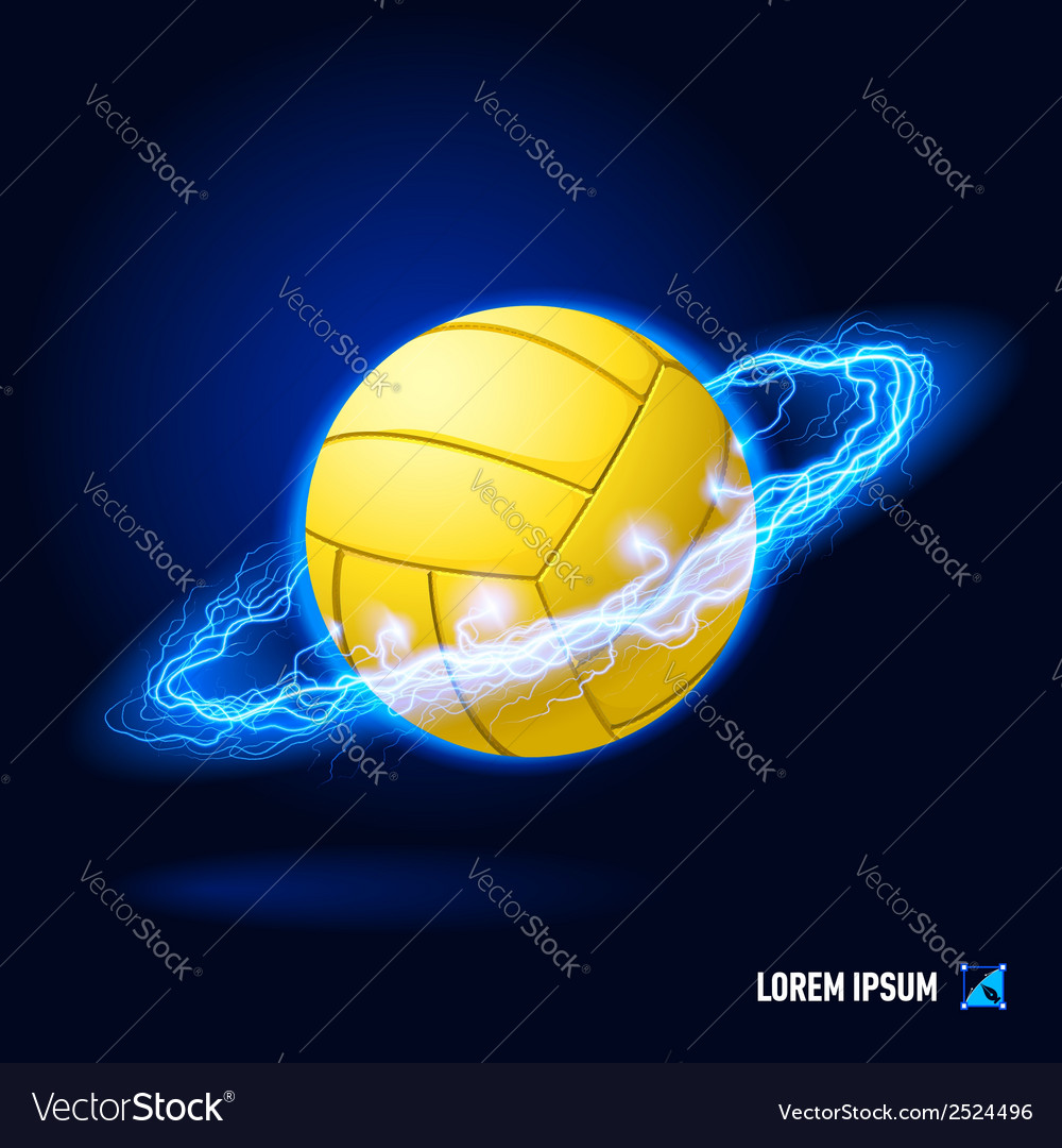 Volleyball high voltage vector | Price: 1 Credit (USD $1)