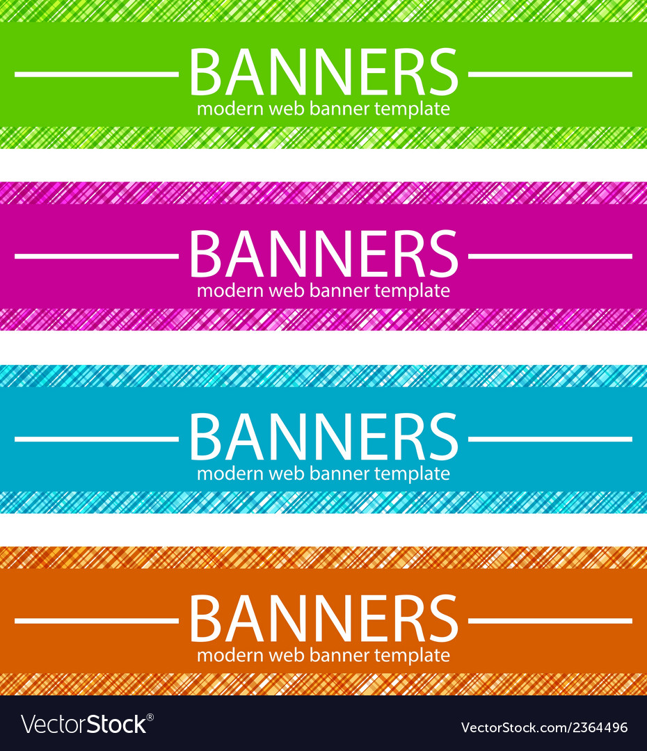 Web banners template in four colors vector | Price: 1 Credit (USD $1)