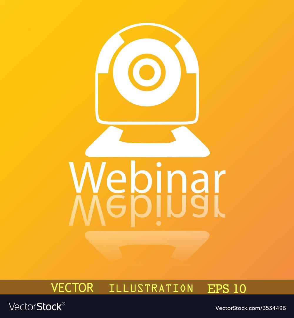 Webinar web camera icon symbol flat modern web vector | Price: 1 Credit (USD $1)