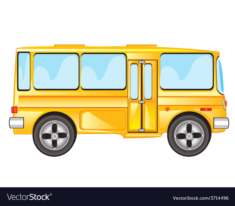Yellow bus vector   Price: 1 Credit (USD $1)